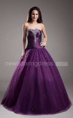 A-Line Sweetheart Sleeveless Dress With Beaded Top And Soft Tulle