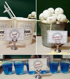 Course themed snacks! Perfect for a kid's golf party