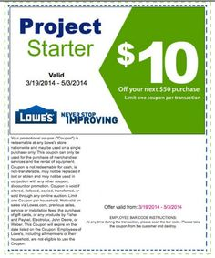 Lowes Printable Coupon - http://www.lowescouponn.com/lowes-printable-coupon/