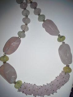 rose quartz, prehnite