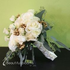 Beautiful Blooms by Jen is a contemporary, every day florist providing our daily customers with the freshest, most unique floral arrangements that our wedding customers have been experiencing for years. Gold Wedding, Wedding Flowers, Gold Accents, Floral Arrangements, Floral Wreath, Bloom, Wreaths, Bridal, Unique