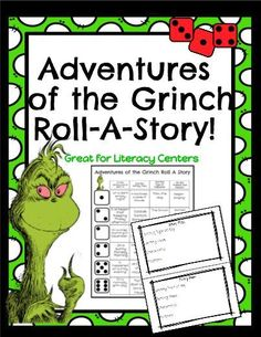 Adventures of the Grinch Roll-A-Story! Teaching Activities, Holiday Activities, Classroom Activities, Teaching Ideas, Classroom Ideas, Grinch Christmas Party, Grinch Party, Xmas, Christmas Parties