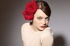 Emma Stone Big Red Rose - HD Wallpapers - Free Wallpapers - Desktop Backgrounds