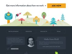 Dribbble - Ipolecat footer by keepa