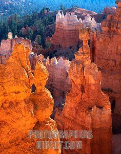 Satans Eye and Thors Hammer , Bryce Canyon , Utah , USA stock photo