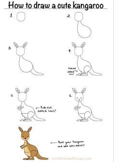Easy Drawings For Kids, Cute Little Drawings, Drawing For Kids, Cute Drawings, Simple Doodles, Cute Doodles, Doodle Drawings, Animal Drawings, Drawing Lessons