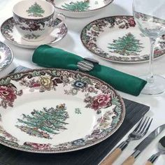 spode on the trent est. 1784 - like this far better than the original spode christmas china with the plain green band.