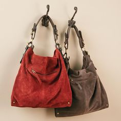 Sabana Suede Shoulder Bag - Slouch Weekender Purse with Zip Top at Signals | KB0594