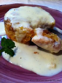 Rich and Sweet by Bia Rich: Bourbon Panettone Bread Pudding with Warm Pouring Vanilla Bean Custard