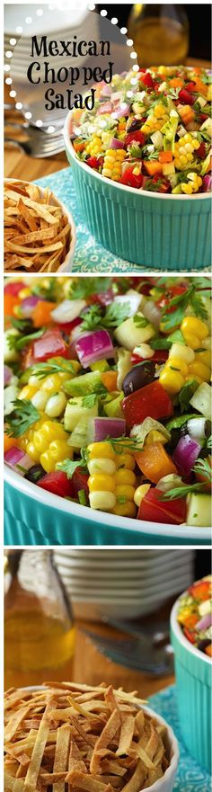 Creative cooking and recipe innovation is easier when you start with quality ingredients. Try adding a colorful salad like @ConfusedGirlLA's Mexican Chopped Salad with bell peppers, zucchini and black beans. Add a punch of flavor with cliantro and jalapeños. Serve with tortillas on the side. What are you adding to your salads to give them more color? Viva La Morena AD