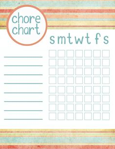 I just had a great idea. Put chores on the chart with no names and anyone can do them...I don't care as long as they get done!