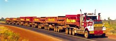 Leave it to the Ausies. Train Truck, Road Train, Back Road, Kenworth Trucks, Ford Trucks, Peterbilt, Semi Trucks, Brisbane, Perth