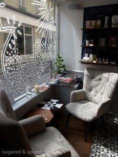 Home Decorators Collection Blinds Cafe Window, Window Art, Interior Design Courses Online, Interior Design Singapore, Lounge, Paris Cafe, Shop Interiors, Cafe Interior, Room Decor