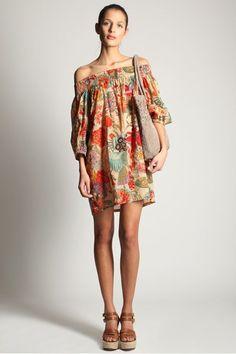 Floral Garden Off-The-Shoulder Dress