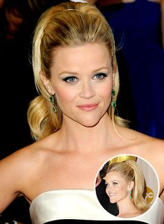 Reese Witherspoon's '60s mod ponytail