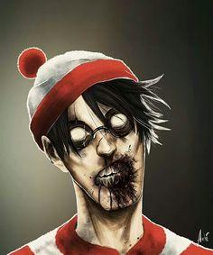 Um....I found Waldo...#zombies