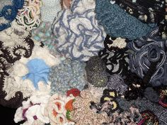 Feast on the array of yarns, stitches & the amount of counting that went into this small area alone. the hours spent. Platform, Sea, Stitch, Crochet, Painting, Full Stop, Painting Art, The Ocean, Ganchillo