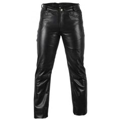 Men's Classic Pure Black Skinny Fit Leather Pant By Leather Rider Leather Motorcycle Pants, Mens Leather Pants, Leather Boots, Black Skinnies, Black Pants, Leather Gauntlet, Bespoke Tailoring, Lambskin Leather, Mens Fitness