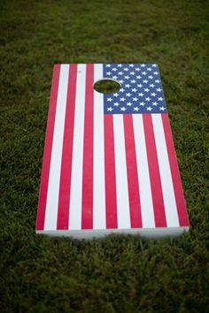 more patriotic cornhole | Katherine Miles Jones #wedding