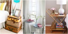 9 Unexpected Swaps for Traditional Nightstands Unique Bedside Tables, Traditional Bedroom, Unique Nightstands, Basement Guest Rooms, Diy Nightstand, Cottage, Bedroom Night Stands, Diy Interior, Furniture