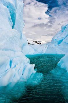 Iceberg Lagoon, Antarctica #travel Antartica