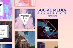 Social Media Templates Kit by QueenHandcrafts on @creativemarket