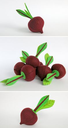 Felt play food Beet (1 pc) by MyFruit I suggest you to buy realistic stuffed toys, made of felt for your little ones. For playing the Garden Harvest Kitchen Shop etc. ————————————————————— ♥ unique design, are just like real ♥ small (5,5 in) and light (0,3 oz) ♥ safe for your children - do not contain plastic, glue and wire The most popular items in my store that you might be interested in: ❀ Playset Felt Garden with 12 vegetables www.etsy.com/listing/462237319/ ❀ Big soft toy Corn www.et...