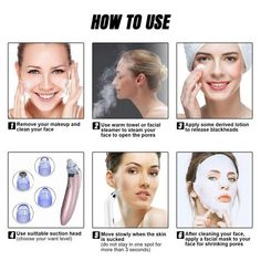 Item ID: Squeezing blackheads is painful and may create microscopic tears in your skin, making it easier for more bacteria to enter. Remove Blackheads From Nose, Blackhead Vacuum, Blackhead Remover, Shrink Pores, How To Exfoliate Skin, Loose Skin, Sagging Skin, Skin Routine, Shopping
