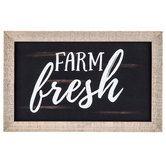 Farm Fresh Wood Wall Decor