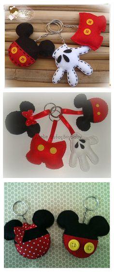 Chaveiro em homenagem ao Mickey com molde gratuito e PAP em vídeo