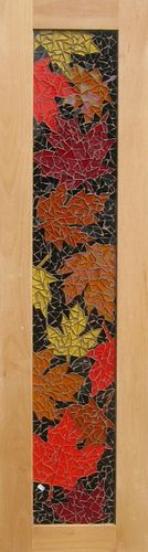 Autumn leaves. Mosaic tile panel.
