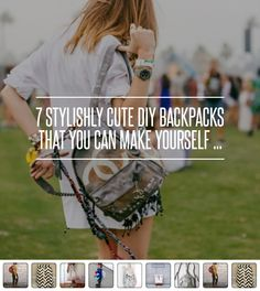 7 #Stylishly Cute DIY Backpacks That You Can Make #Yourself ... → DIY #Number