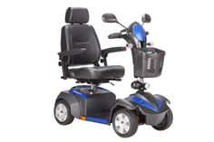 """Ventura DLX Four-Wheel Power Mobility Scooter - available in red or blue, with 18"""" or 20"""" Captain's Seat. #scooter #mobility #disability #geriatric #elder #bariatric #ventura  https://www.facebook.com/VidaCura 