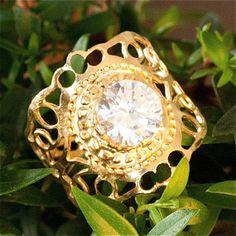 Semi precious stone gold rings By Kelka Jewelry