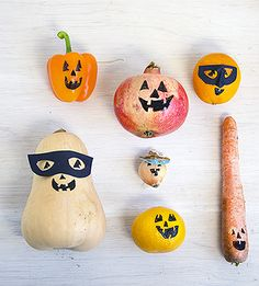 Halloween Projects: Fruit and Veggie-o-lanterns | willowday: