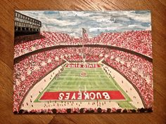 MADE TO ORDER Stadium Paintings (example: Ohio State Buckeyes Stadium) - An original, acrylic canvas painting available for just $125 (inquire within for special pricing and custom orders)