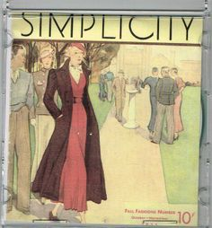 CD Picture Pack of Simplicity Fall 1933 Catalog Searchable Database of Patterns