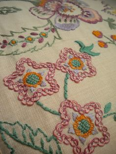 Harujion Design: Crewel Embroidered Flowers
