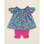 Ralph Lauren Childrenswear Infant Girls' Floral Tunic & Legging Set - Sizes 3-9 Months