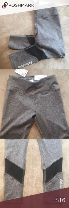 Justice brand gray leggings with black mesh, girls Brand new with tags. Makes a great gift. Fun mesh on legs. Great design. Justice Bottoms Leggings