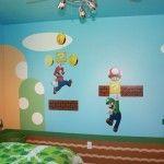 Mario Bros en la habitacion de tu hijo