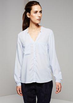 Freizeitbluse light blue 81.502.11.2330 | Fashion & Mode | comma Online
