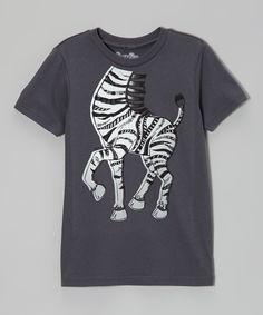 Charcoal Dancing Zebra Tee - Infant & Toddler