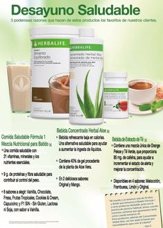 Herbalife, Desayuno Saludable Herbalife Recipes, Herbalife Shake, Herbalife Nutrition, Nutrilite, Healthy Drinks, Herbalism, Food And Drink, Health Fitness, Herbs