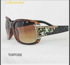 5cafc30d45af William Wang For Women Lens Red Sunglasses Swarovski Crystal New UV Sun  Eyewear