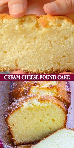 Cream Cheese Recipes, Lemon Cream Cheese Pound Cake Recipe, Dessert Recipe Using Cream Cheese, Greek Honey Cake Recipe, Yogurt Pound Cake Recipe, Desserts With Cream Cheese, Ricotta Cheese Desserts, Sugar Cream Pie Recipe, Heavy Cream Recipes