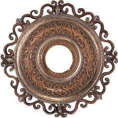 Minka Aire Fans Medallion in Tuscan Patina Finish Tuscan Design, Tuscan Style, Mediterranean Style, My Living Room, Living Room Decor, Tuscan Decorating, Decorating Ideas, Tuscan House, Ceiling Decor