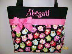 Owl Diaper bag...How stinkin' cute!!!
