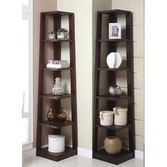 i quite like these corner shelves. sears - who knew?