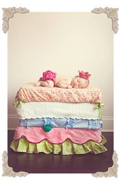 Such a cute idea. Princess and the Pea PHOTOGRAPHY PROP - Custom Baby 10-Mattress 5-Bedding Cover